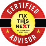 Certified Fix This Next Advisor Logo